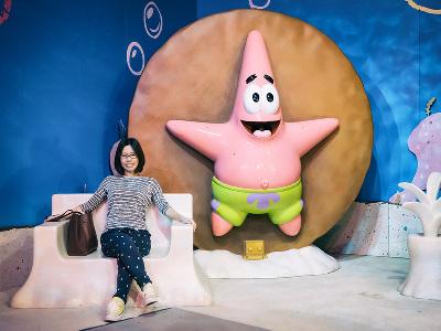 網友探訪海綿寶寶比奇堡特展